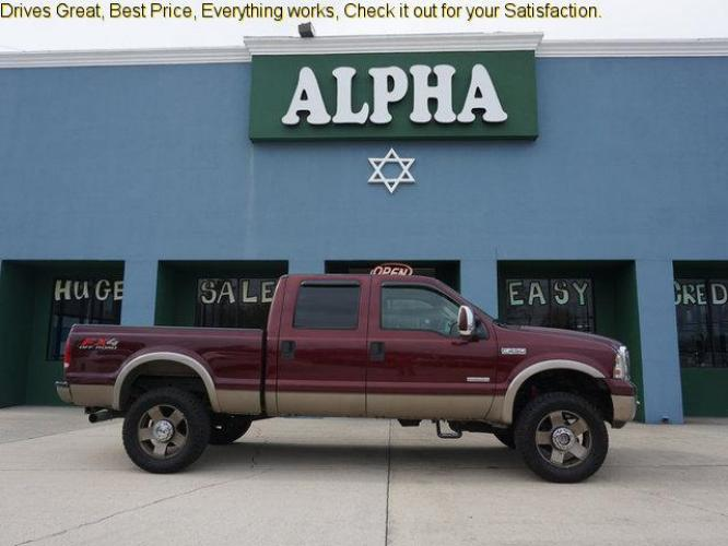 2006 Red Ford F-250 (1FTSW21P36E) with an 6.0L 8 Cyl engine, 6 Spd Hd Manual transmission, located at 6904 Johnston St., Lafayette, LA, 70503, (337) 988-1960, 30.143589, -92.100601 - Photo #0