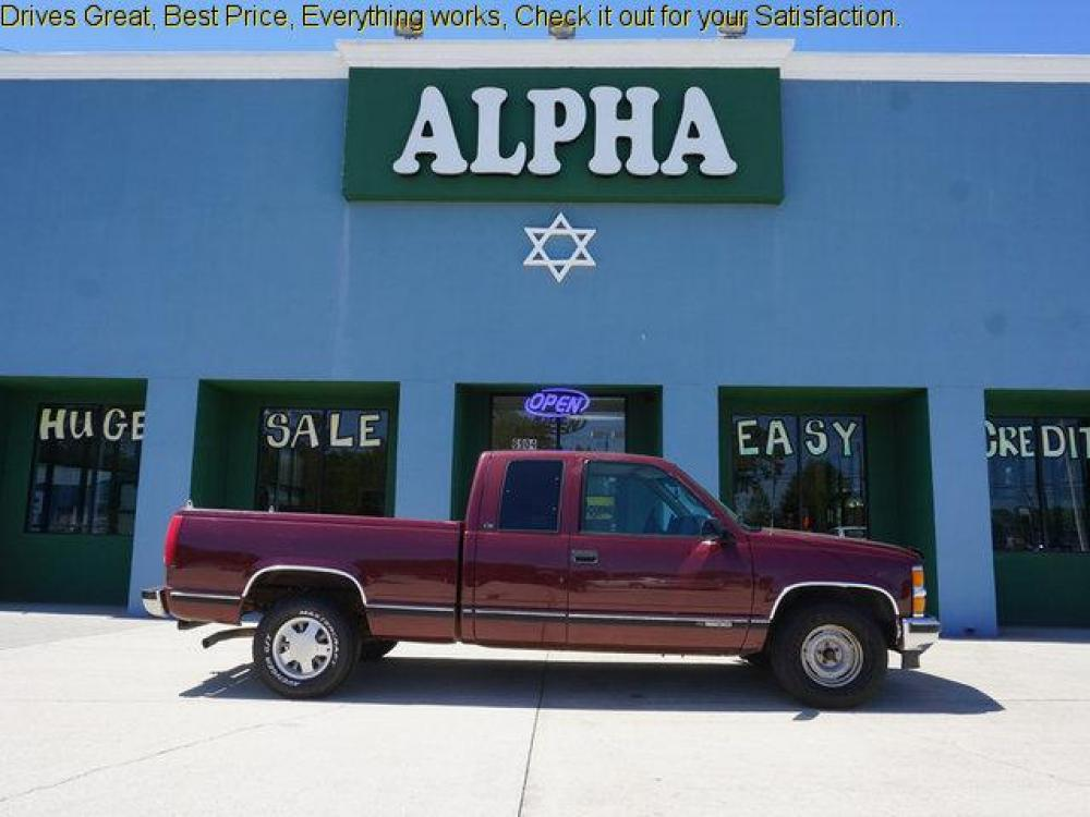 1999 Red Chevrolet C1500 (1GCEC19R4XR) with an 5.7L V8 engine, 4 Spd Automatic transmission, located at 6904 Johnston St., Lafayette, LA, 70503, (337) 988-1960, 30.143589, -92.100601 - Photo #0