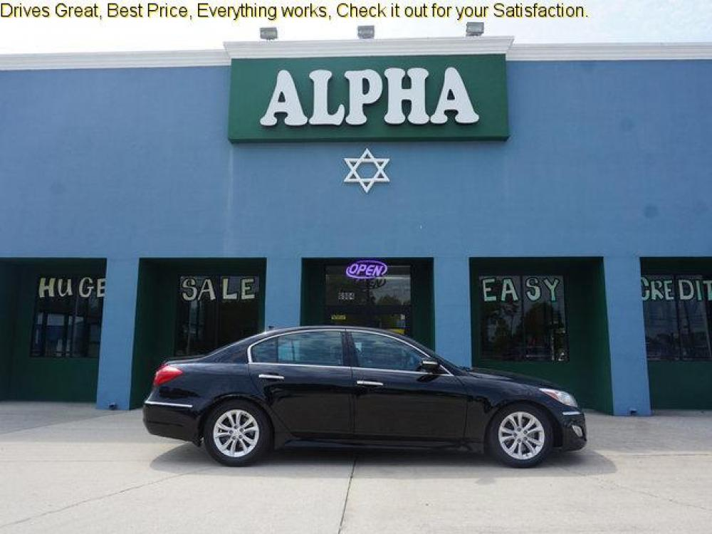 2013 Black Hyundai Genesis (KMHGC4DDXDU) with an 3.8L V6 engine, 8 Spd Automatic transmission, located at 6904 Johnston St., Lafayette, LA, 70503, (337) 988-1960, 30.143589, -92.100601 - Photo #0